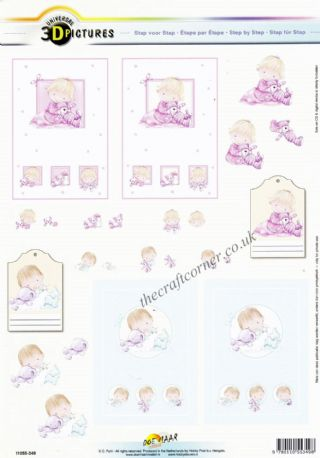 Adorable New Baby Designs 3d Decoupage Sheet from Doe Maar